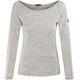 super.natural Scoop Neck LS 175 - Camiseta de manga larga Mujer - gris